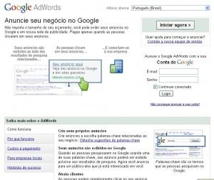 Google Adowrds Página Inicial