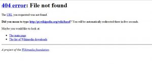 Erro 404 Wikipedia