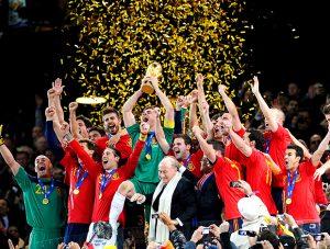 Espanha, campeão Mundia de 2010