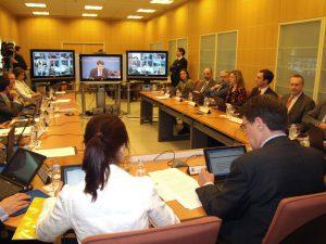 Conferência com comunicação online