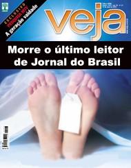 Capa Revista Veja Morte do Jornal
